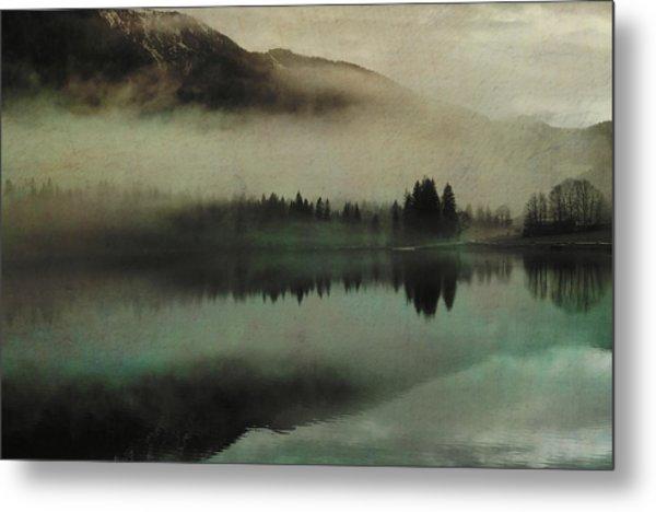 November Lake Metal Print
