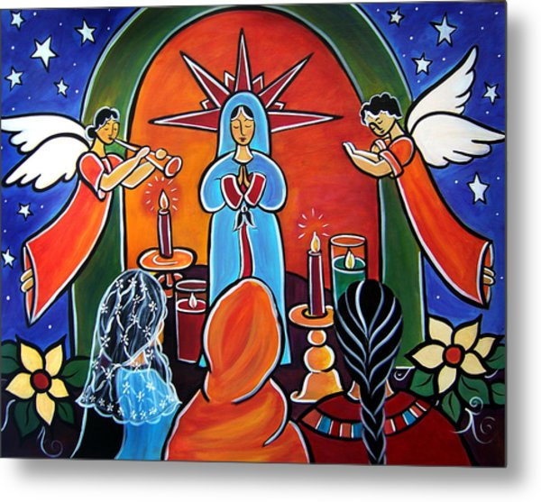 Metal Print featuring the painting Novena by Jan Oliver-Schultz