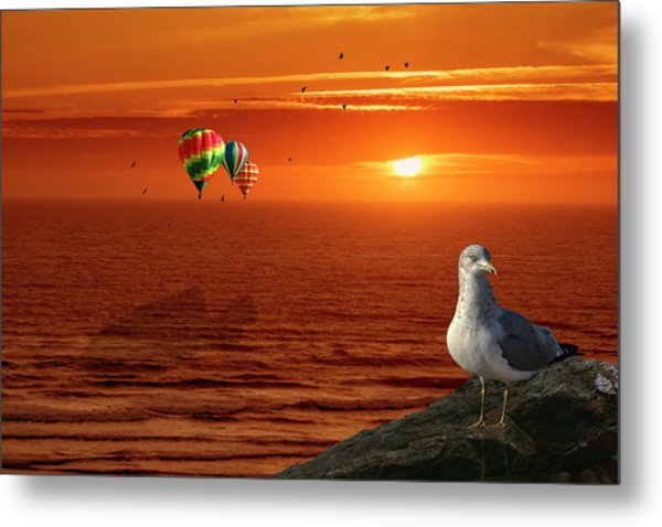 Now Those Are Funny Looking Birds Metal Print