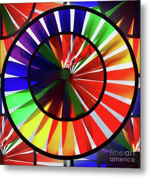 Metal Print featuring the photograph noWind wheel by Luc Van de Steeg