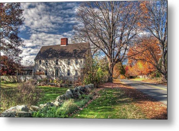 Noyes House In Autumn Metal Print