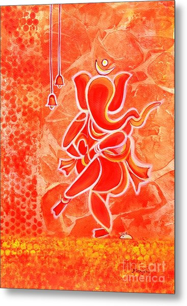 Nritya Ganesha- Dancing God Metal Print