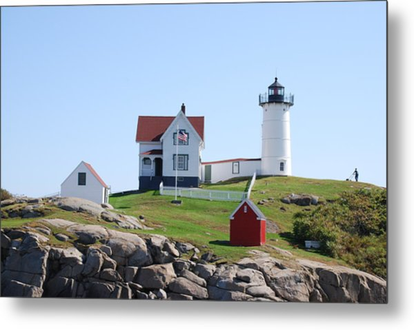 Nubble Light Metal Print by Armand Hebert