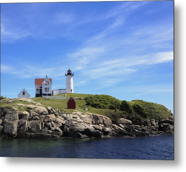 Metal Print featuring the photograph Nubble Light House by Linda Constant