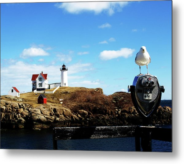 Nubble Light House Metal Print