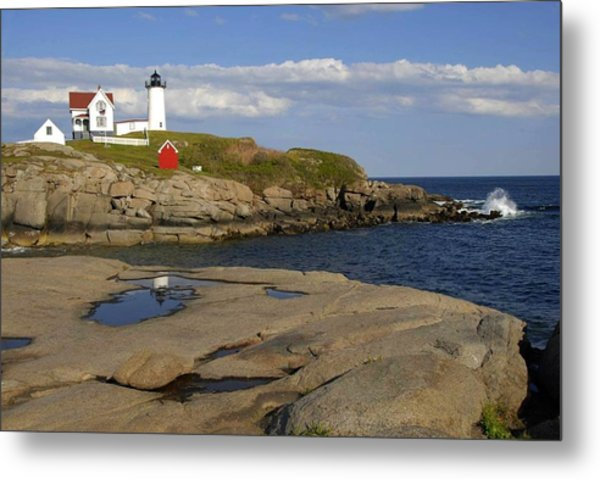 Nubble Light Maine Metal Print