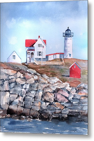 Nubble Lighthouse - Maine Metal Print