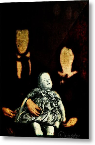 Metal Print featuring the digital art Nuclear Family by Delight Worthyn