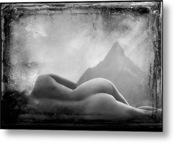 Metal Print featuring the photograph Nude At Chinaman's Hat, Pali, Hawaii by Jennifer Wright