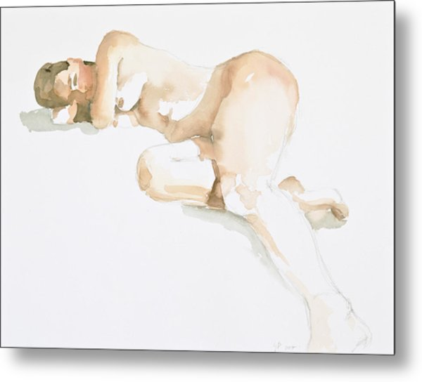 Nude Metal Print by Eugenia Picado