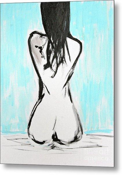 Nude Female Metal Print