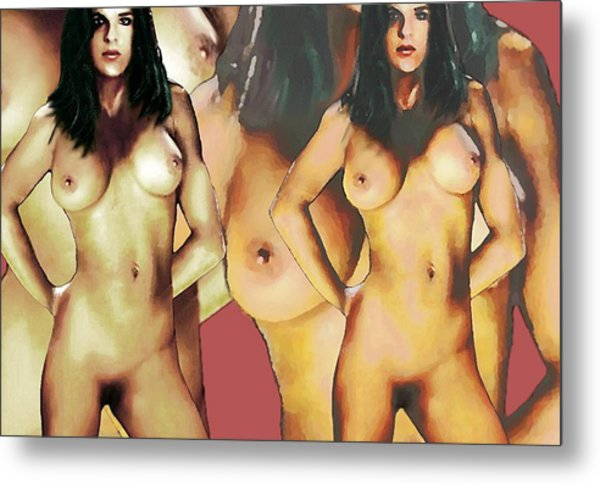 Nude Female Portrait Sara Standing2 Metal Print by G Linsenmayer