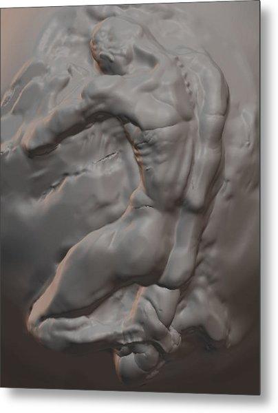 Nude In Marble Metal Print