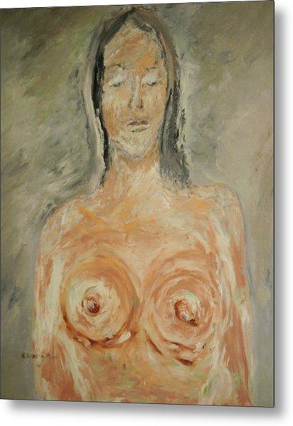 Nude Sleeping Metal Print by Edward Wolverton