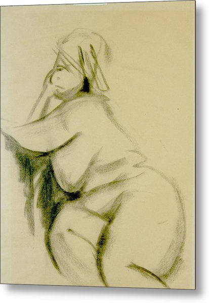 Nude Study Metal Print by Howard Stroman