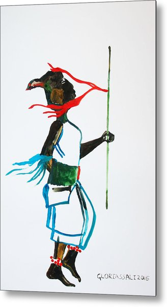 Nuer Dance - South Sudan Metal Print