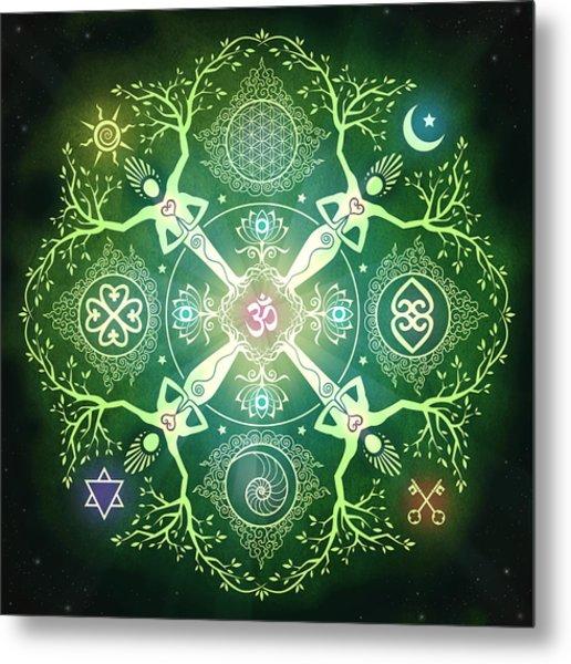 Numinosity Mandala Metal Print by Cristina McAllister