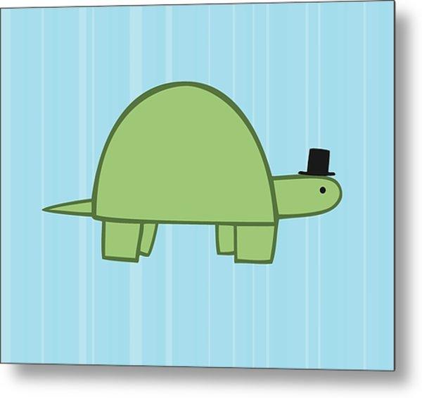 Nursery Art Boy Turtle Metal Print