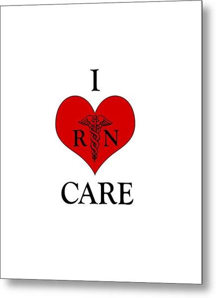 Nursing I Care -  Red Metal Print