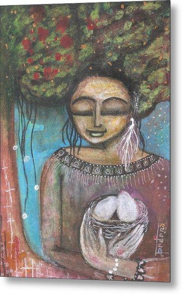 Metal Print featuring the mixed media Nurture Nature by Prerna Poojara