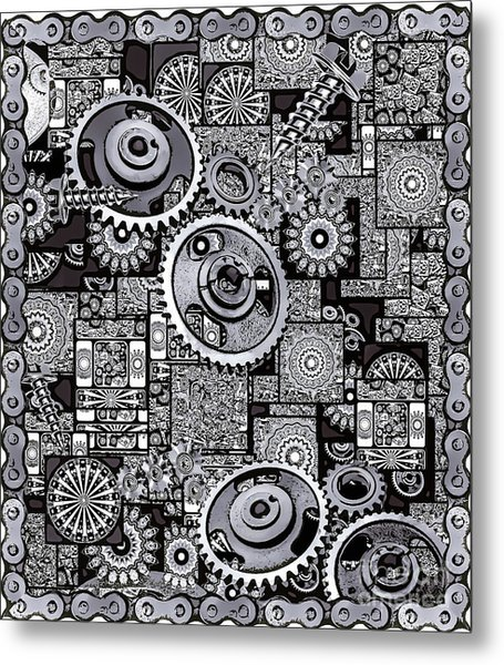 Metal Print featuring the digital art Nuts And Bolts by Eleni Mac Synodinos