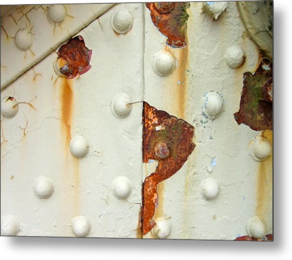 Nuts Bolts And Rust Metal Print by Richard Mansfield