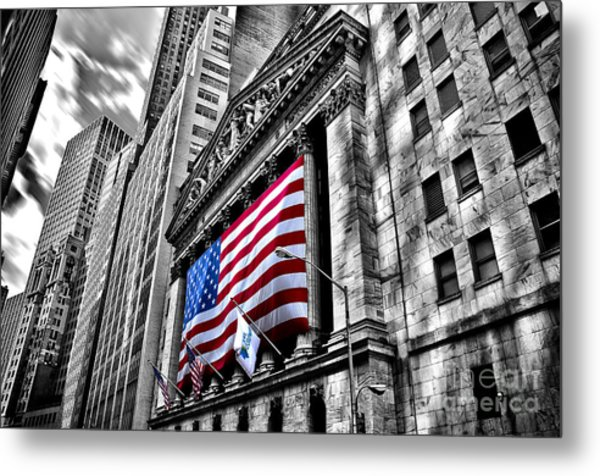 Ny Stock Exchange Metal Print by Alessandro Giorgi Art Photography