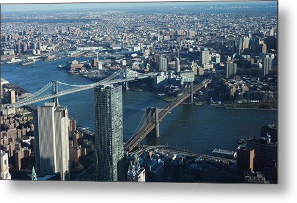 Nyc Bridges Metal Print