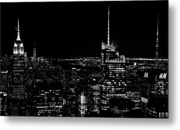 Metal Print featuring the photograph Nyc Nights by Rand