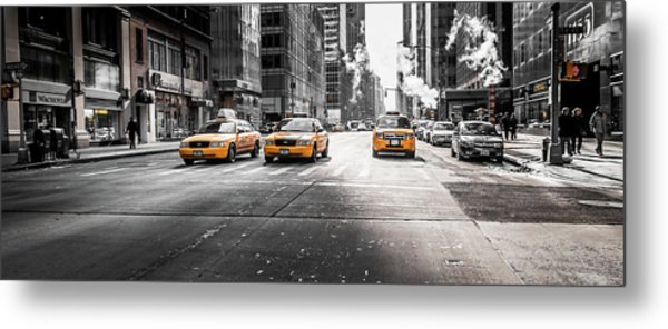 Nyc Taxi Metal Print