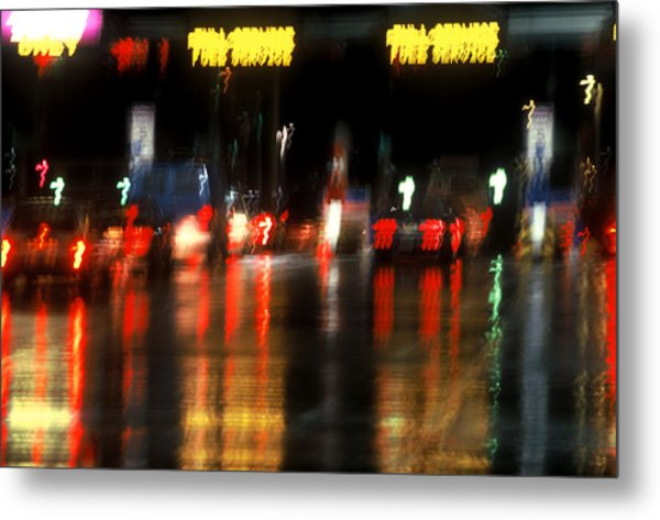 Nyc Toll Booth Metal Print by Brad Rickerby