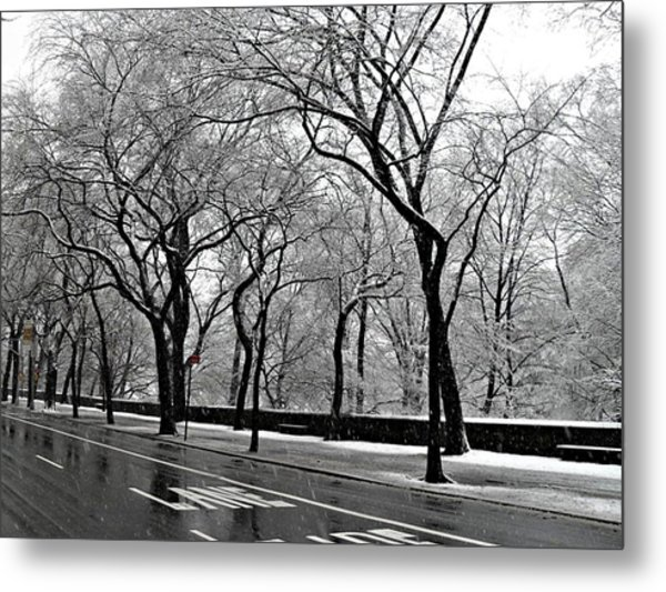 Nyc Winter Wonderland Metal Print