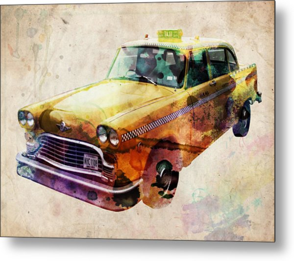 Nyc Yellow Cab Metal Print