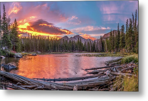 Nymph Lake Sunrise Metal Print by Robert Yone