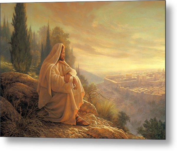 Metal Print featuring the painting O Jerusalem by Greg Olsen