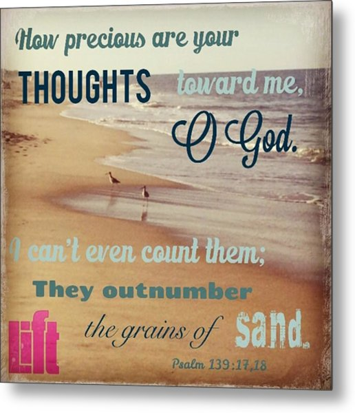 O Lord, You Have Examined My Heart  And Metal Print