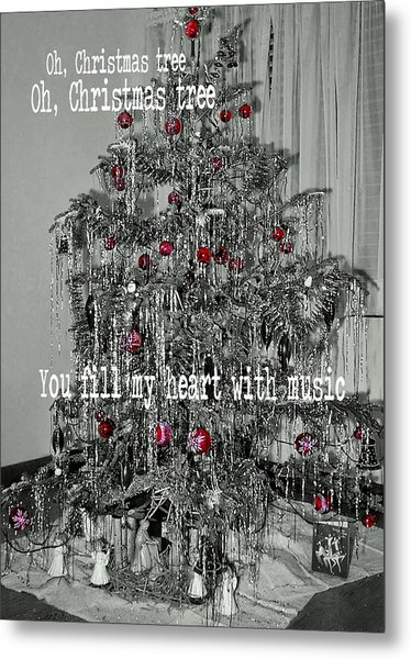 O Tannenbaum Quote Metal Print by JAMART Photography
