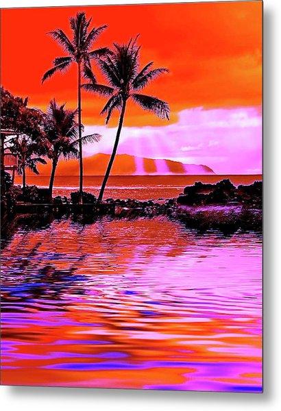 Oahu Island Metal Print
