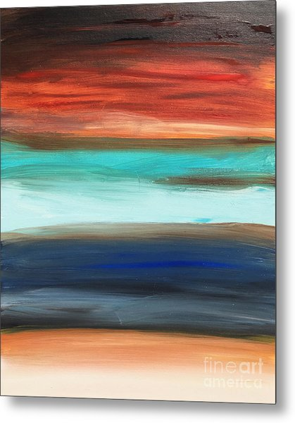 Oak Creek #28 Southwest Landscape Original Fine Art Acrylic On Canvas Metal Print