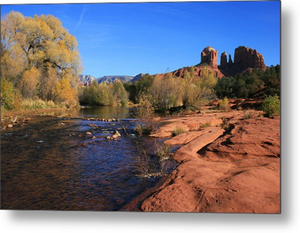 Oak Creek Autumn Metal Print