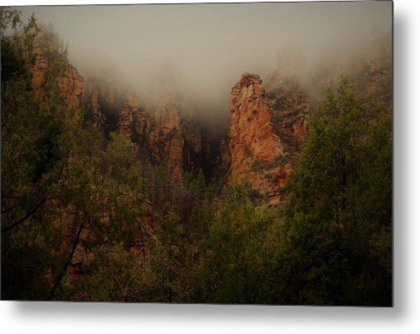 Metal Print featuring the photograph Oak Creek Canyon Arizona by Broderick Delaney