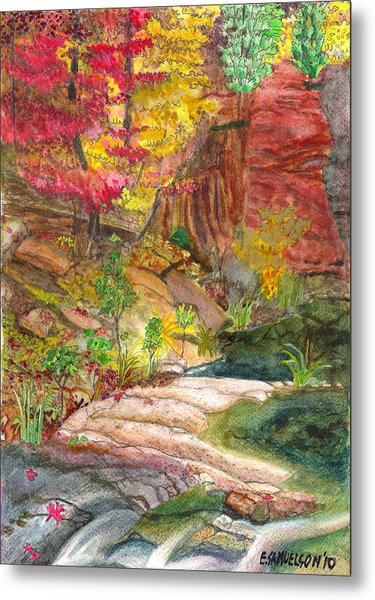 Oak Creek West Fork Metal Print