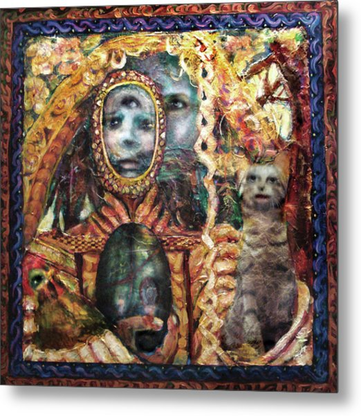 Obatala Prepares For His Journey Metal Print