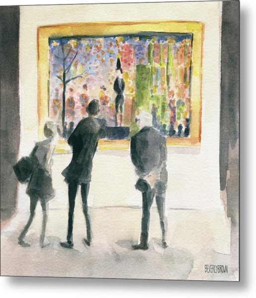 Observing Seurat Metal Print
