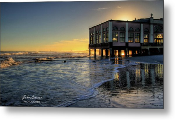 Oc Music Pier Sunset Metal Print