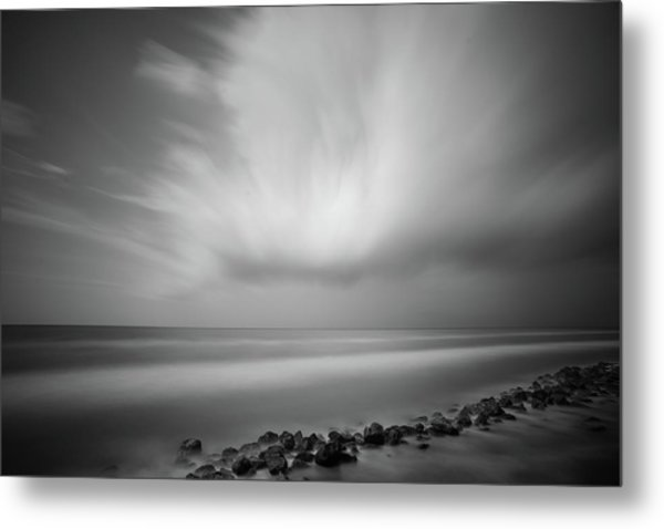 Metal Print featuring the photograph Ocean And Clouds by Todd Aaron