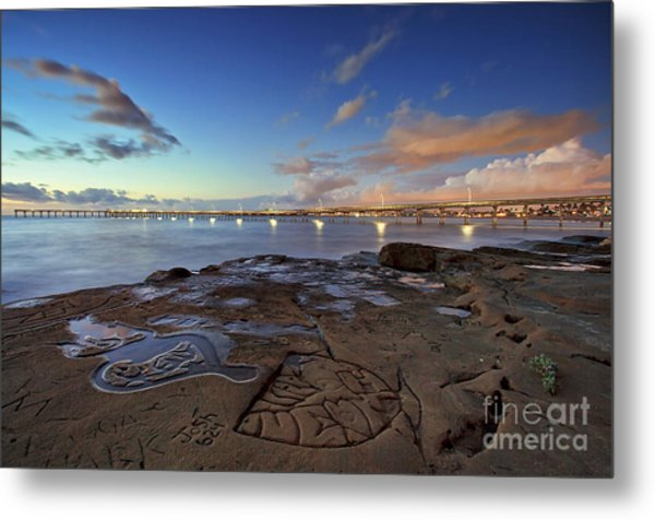 Ocean Beach Pier At Sunset, San Diego, California Metal Print