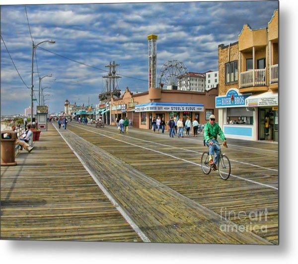 Ocean City Boardwalk Metal Print