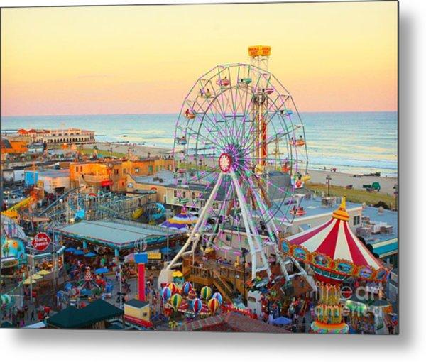 Ocean City New Jersey Boardwalk And Music Pier Metal Print