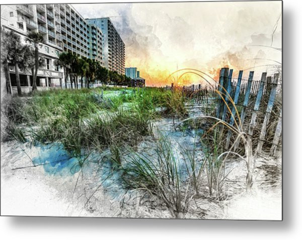 Ocean Drive Easter Sunrise Metal Print